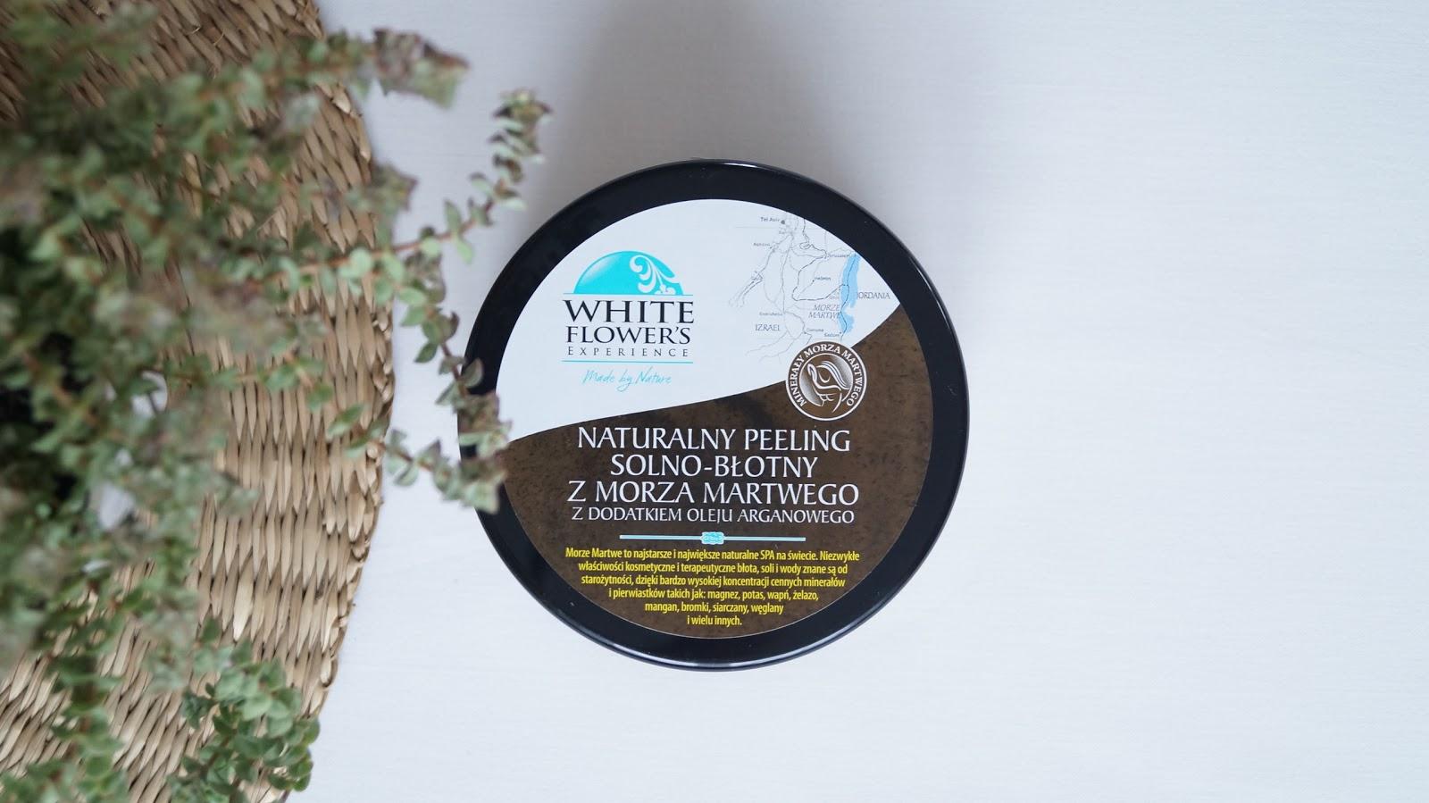 Co tu się stało? - recenzja naturalnego peelingu solno - błotnego z dodatkiem oleju arganowego White Flower's Experiance Made by Nature