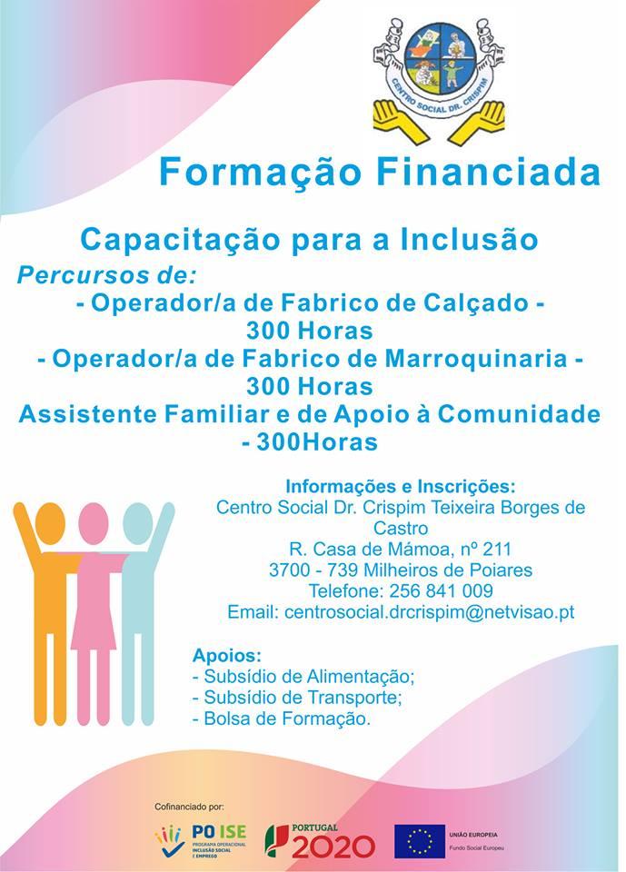 Formação financiada em Milheirós de Poiares