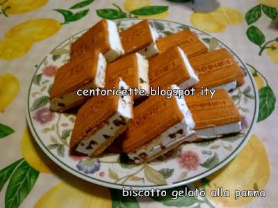 Biscotto gelato alla panna