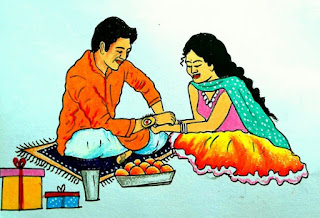 Raksa Bandhan Drawing Images