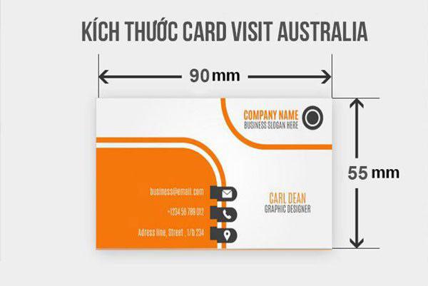 Kích thước card visit phổ biến khi in ấn