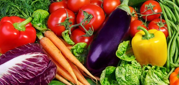 كم نسبة الماء في الخضروات