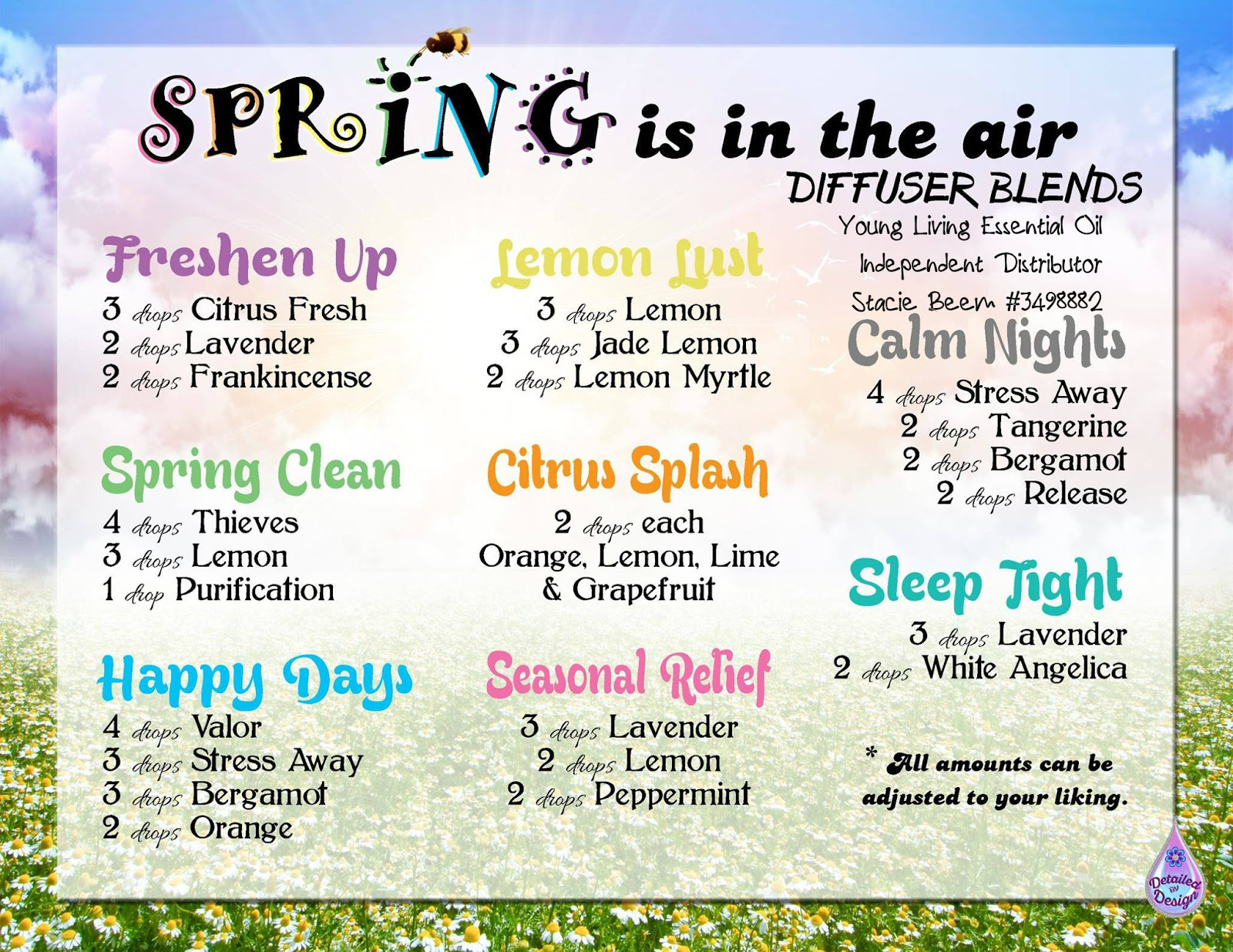 Relaxing Spa Diffuser Blends
