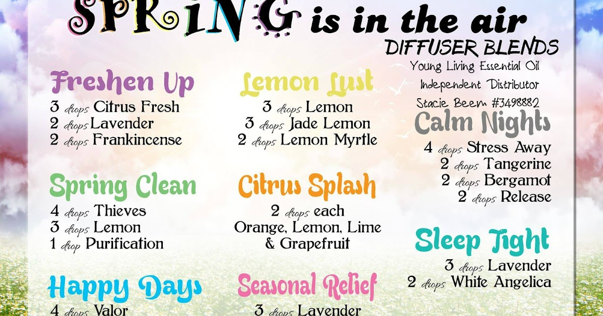 You Know I Love To Share Essential Oil Blends To Diffuse