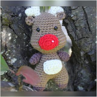 patron amigurumi Reno de Navidad crochet y amigurumis