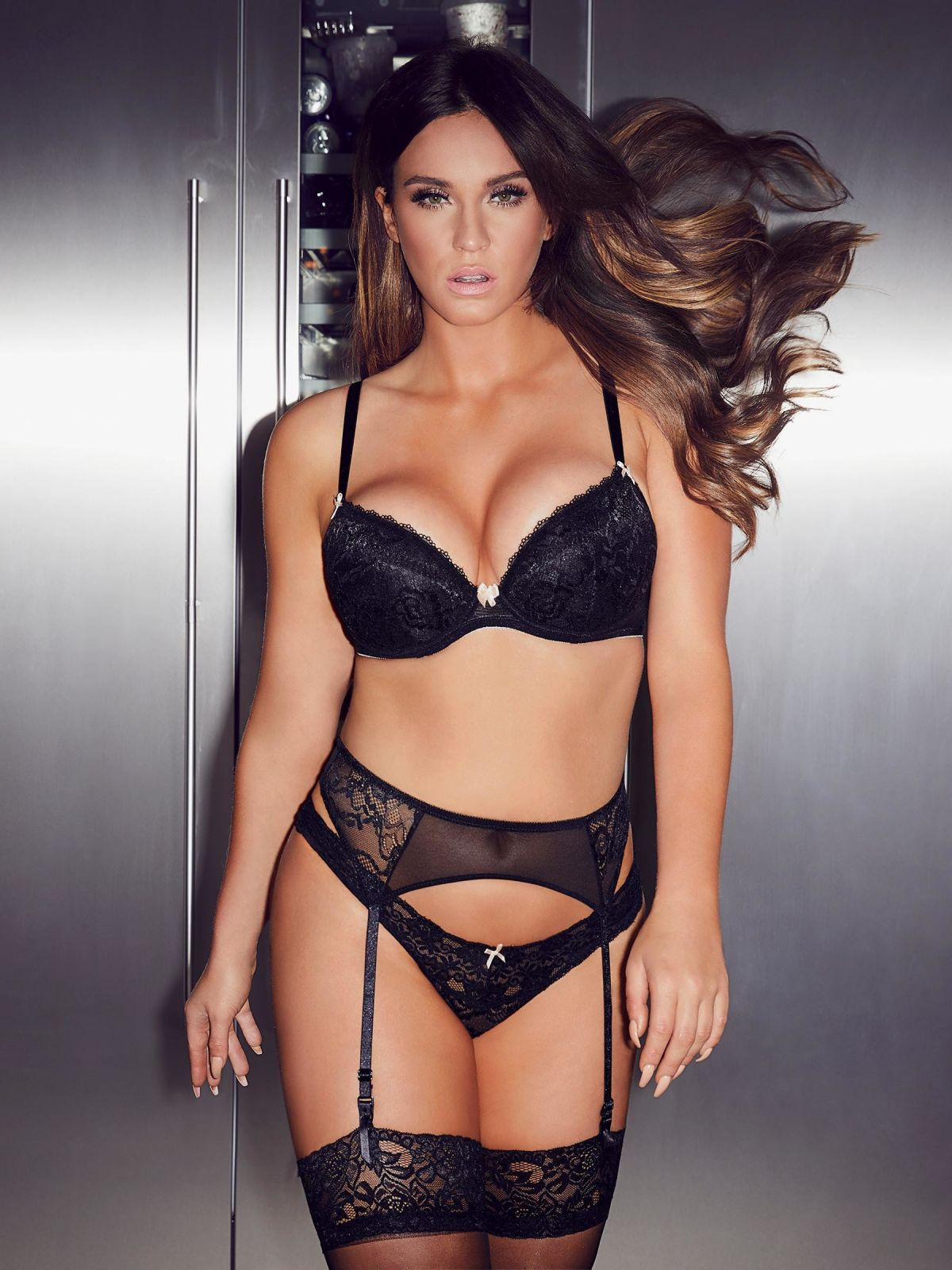 Vicky Pattison Busty In Lingerie As She Promotes Ann