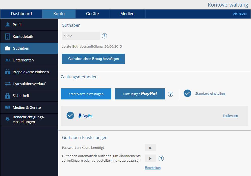 Neues Paypal Konto