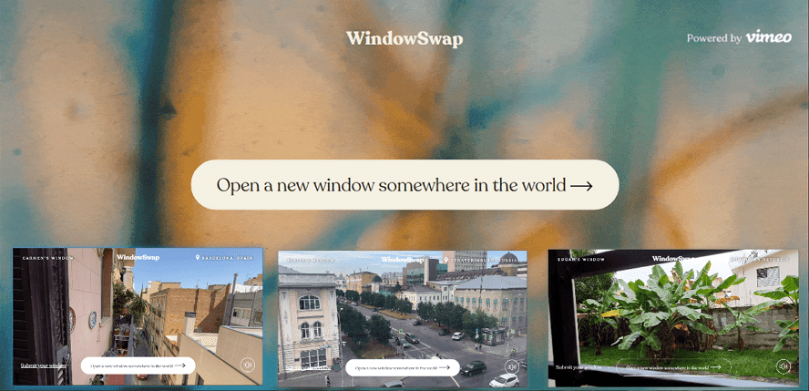 WindowSwap 觀看世界各地窗外風景
