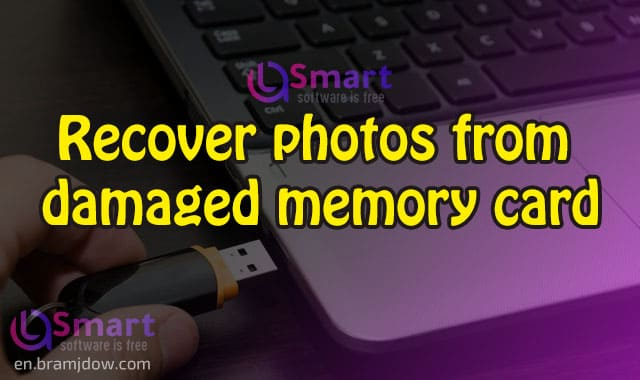 Recover photos from damaged memory card