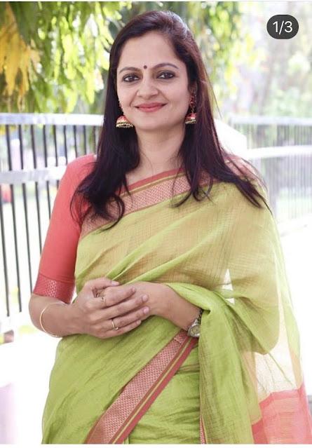 Pratibha Rao in Maheshwari Saree