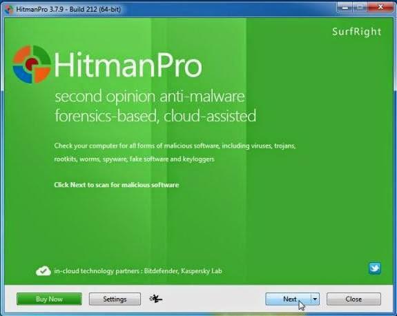 Pantalla inicial HitmanPro