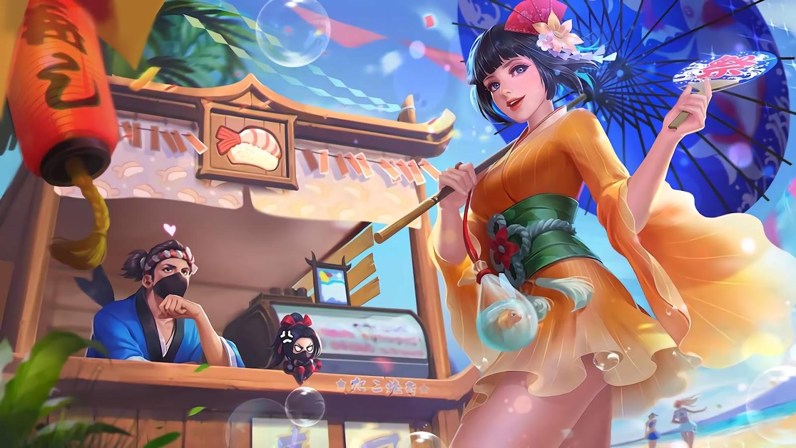 Wallpaper Kagura Summer Festival Skin Mobile Legends Full HD for PC