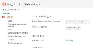 Cara Import Konten Blog
