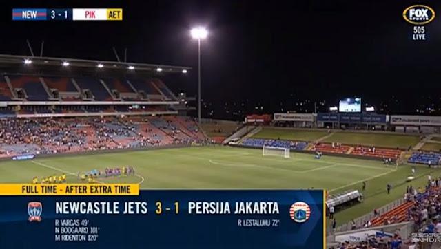 Persija Kalah 1-3 di Kandang Newcastle Jets Australia