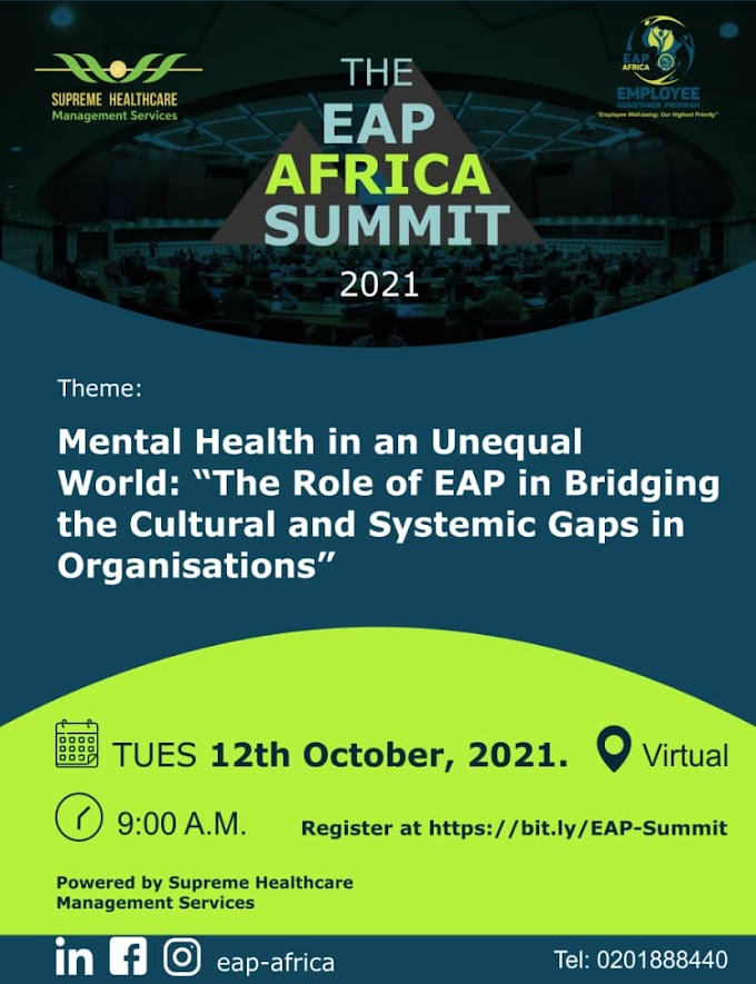 Ghana Mental Health Minister,  Presidential Adviser for Health, and Deputy Minister for Labor & Employment to speak at the 2021 EAP Summit Africa.