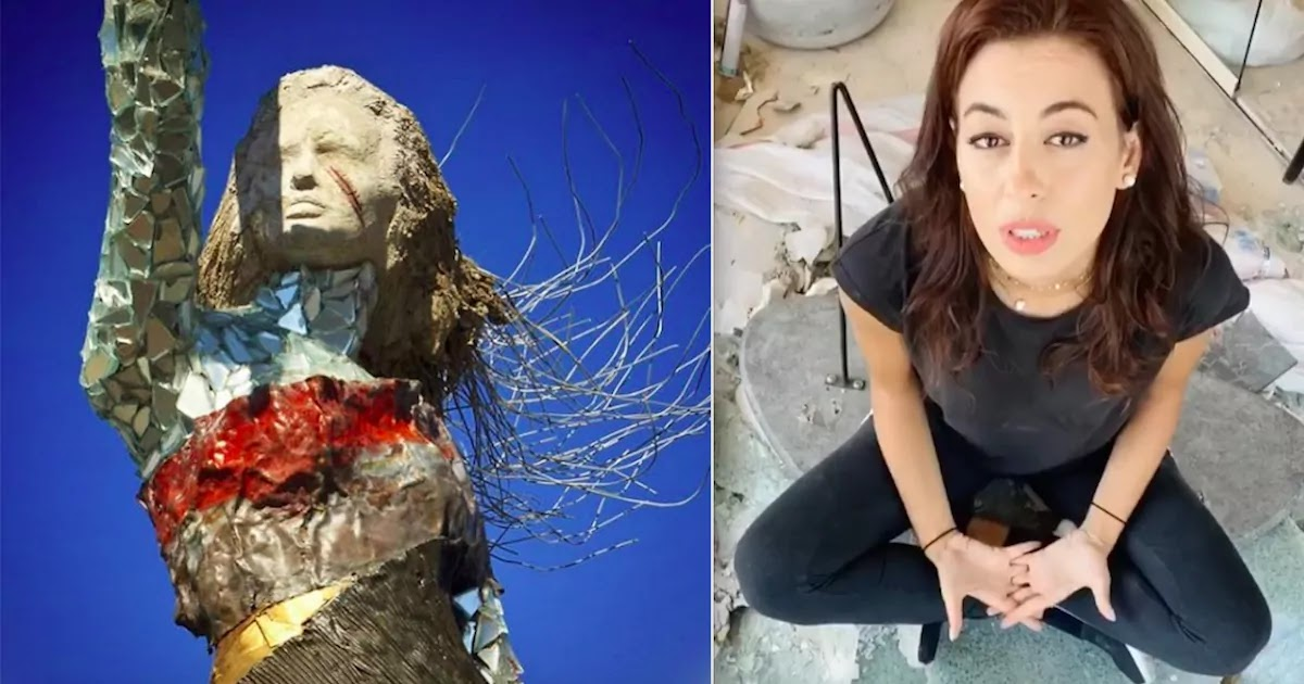 Lebanese Artist Creates Amazing Memorial Sculpture From The Rubble Of The Beirut Port Blast