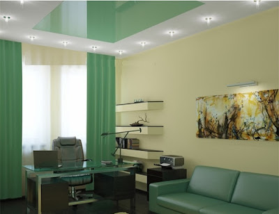 stretch office ceiling design ideas
