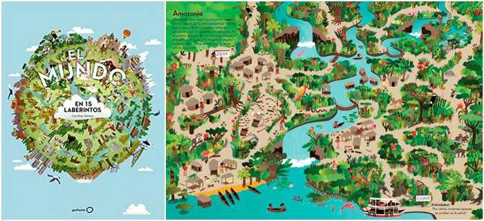 mejores cuentos infantiles 5, 6, 7, 8 años, libros recomendados el mundo en 15 laberintos