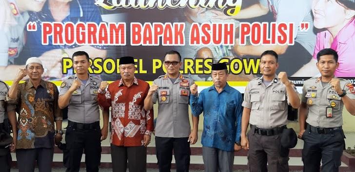 "Kapolsek Tinggimoncong Gowa Hadiri Launching ""Program Bapak Asuh Polisi"