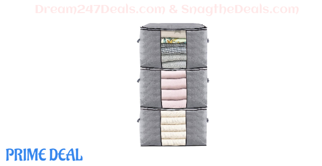 KingSo Large Capacity Clothes Storage Bags 30% OFF
