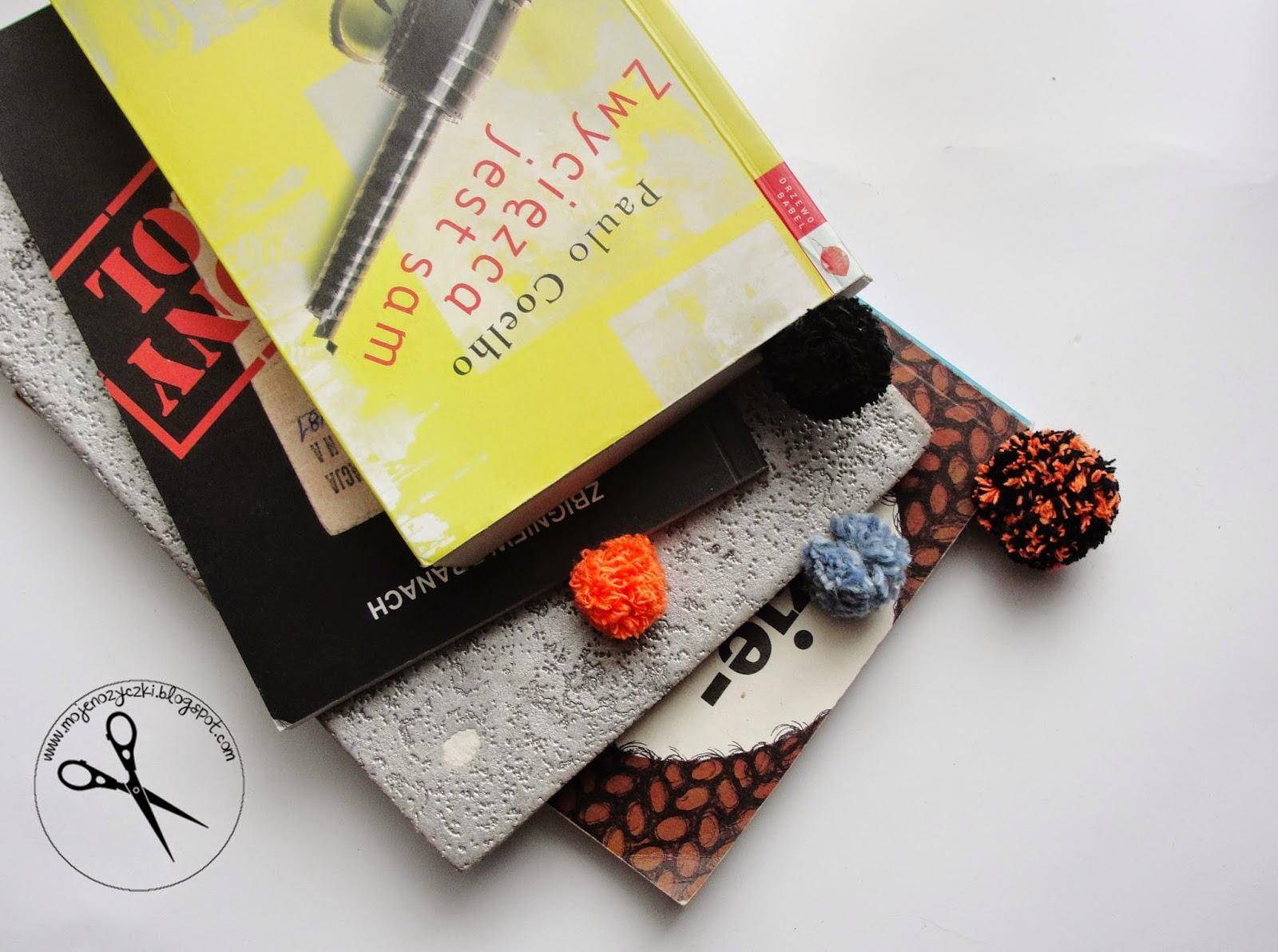 Jak zrobić zakładkę do książki z pomponem ?