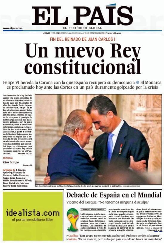 El País, June 19, 2014