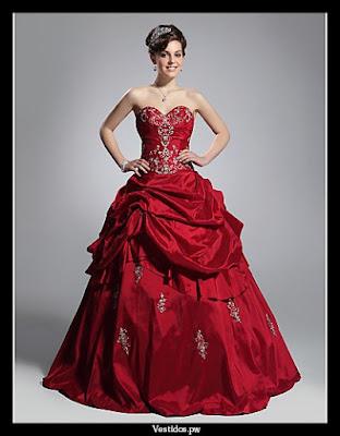 vestidos de 15 años rojos originales