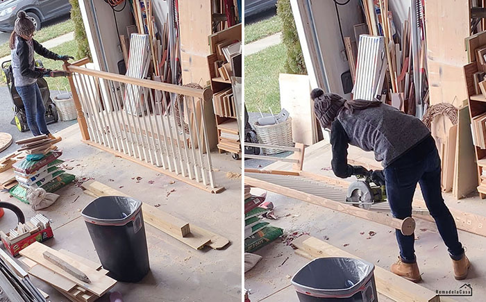 How to repurpose staircase railing - balusters