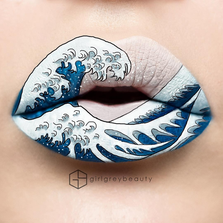 02-The-Great-Wave-off-Kanagawa-by-Katsushika-Hokusai-Andrea-Reed-Body-Painting-and-Lip-Art-www-designstack-co
