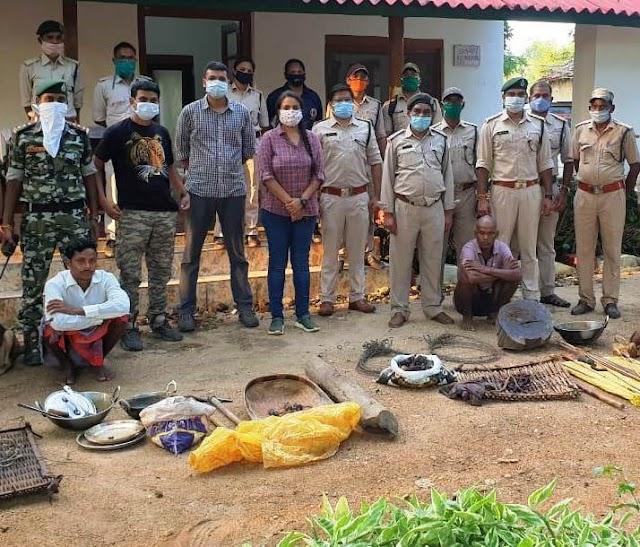 चीतल के अवैध शिकार में दो आरोपी गिरफ्तार