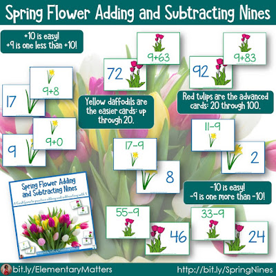 https://www.teacherspayteachers.com/Product/Adding-and-Subtracting-Nines-with-Spring-Flower-Theme-1141336?utm_source=Spring%20Resources%20Blog%20Post&utm_campaign=Spring%20Nines