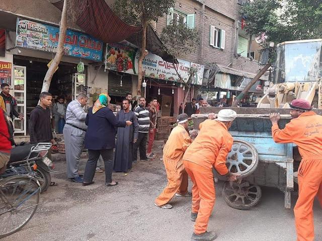 حملة مرافق مكبرة بمنطقة المخبز الألي وشارع المحطة بسوهاج