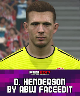 PES 2017 Faces Dean Henderson by ABW_FaceEdit