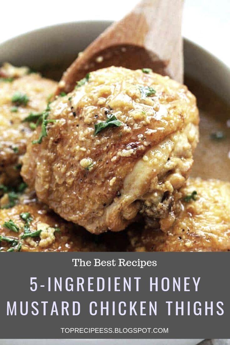 5-INGREDIENT HONEY MUSTARD CHICKEN THIGHS | chicken marinade, chicken spaghetti, lemon chicken, teriyaki chicken, chicken potpie, chicken fajitas, ranch chicken, chicken alfredo, fried chicken, chicken tenders, chicken salad, chicken tacos, shredded chicken, slow cooker chicken, bbq chicken, grilled chicken, chicken wings, chicken soup, stuffed chicken, chicken chili, whole chicken, buffalo chicken, chicken coop #chicken alaking #chicken acomfort foods #chickenarice #chickenameals #chickenalowcarb #chickenaglutenfree #chickenarecipe #chickenadishes #chickenahealthy #chickenaeasydinners #chickenaovens #chickenacooking #chickenafamilies #chickenasoysauce #chickenbcrockpot #chickenbeasyrecipes #chickenbdinners #chickenbbbqsauces #chickenblowcarb #chickenbfamilies #chickenccrockpot #chickencoliveoils #chickenclowcarb #chickencglutenfree #chickencdinners #chickencfamilies