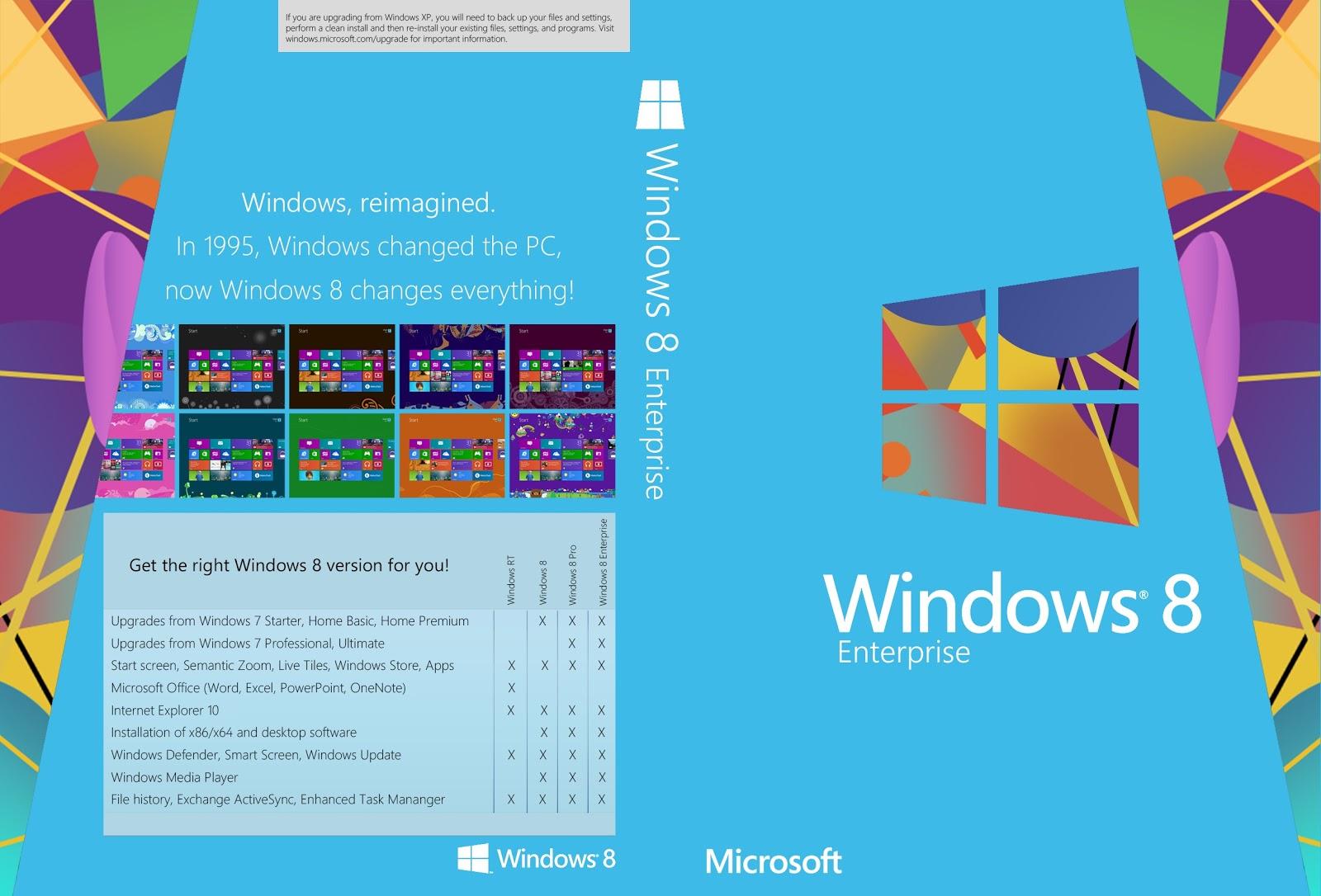 Free Download Windows 8 Professional, Enterprise, Ultimate