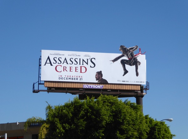 Assassins Creed movie billboard