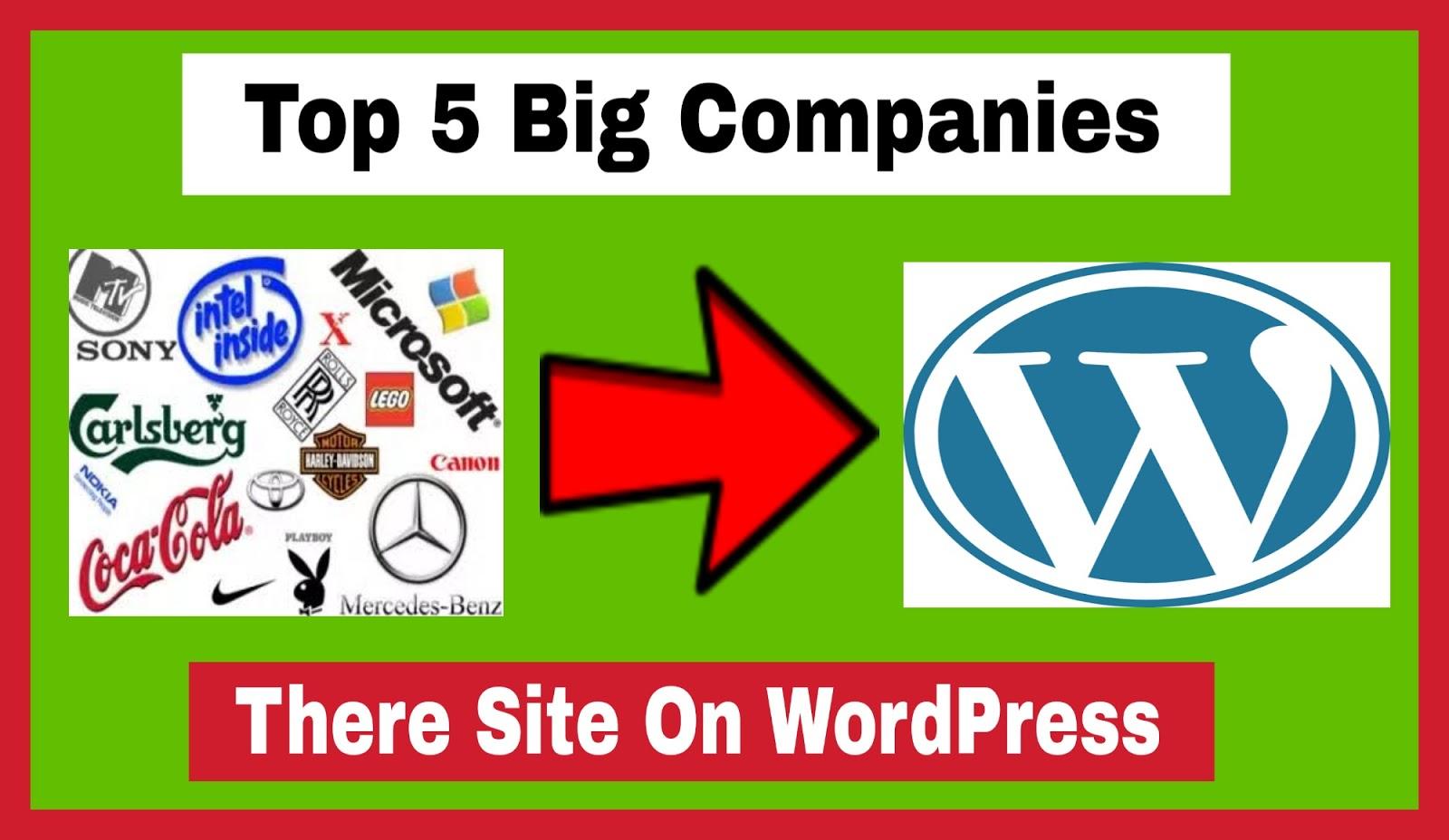 Top 5 Big Company There Site On Wordpress
