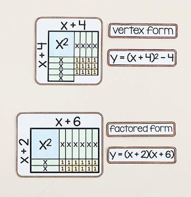 algebra tile references - Algebra word wall
