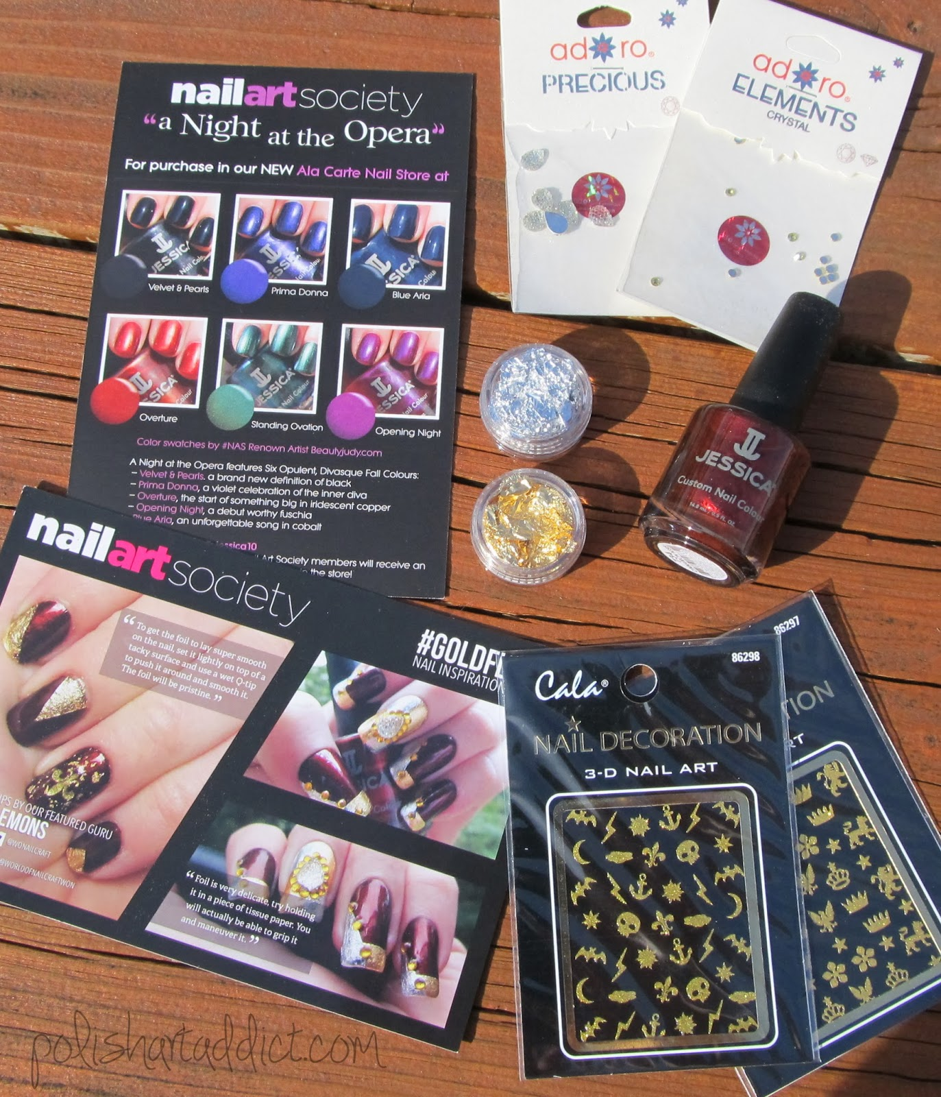 Nail Art Society - #GoldFlake
