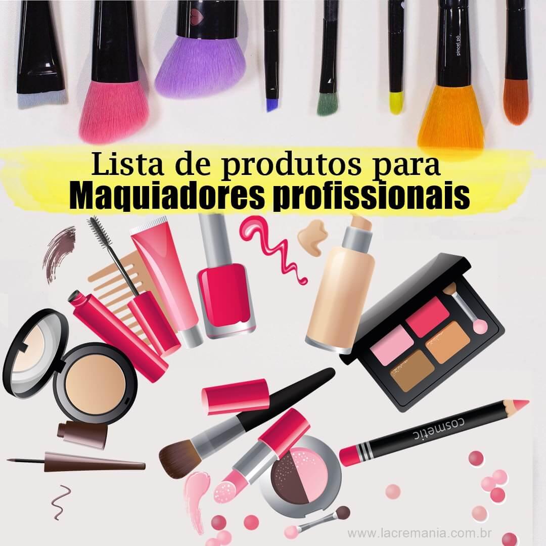 Lista de maquiagem para profissionais iniciantes