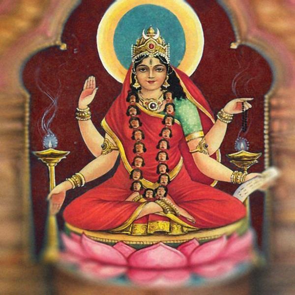 दक्षिणामूर्तिकला भैरव की महाशक्ति त्रिपुर भैरवी