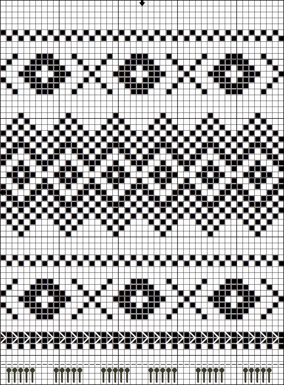 схема жаккард варежки рукавицы