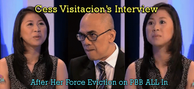 Cess Visitacion's Interview After Her Force Eviction on PBB ALL In Aquino and Abunda Tonight's May 19 episode