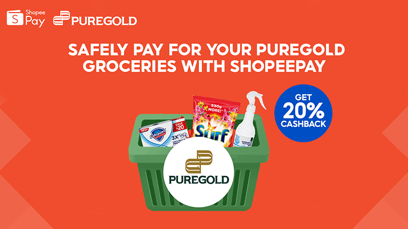 Puregold shoppers can get as much as 20 percent cashback when using ShopeePay