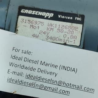 For sale WK1126802 Groschopp WK 1126802 24V -Mot KM58-20 0.8A 4W 3400 min-1 new 3pcs email:idealdieselsn@hotmail.com