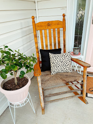 pink front door, front porch makeover, front porch, nc blogger, north carolina blogger