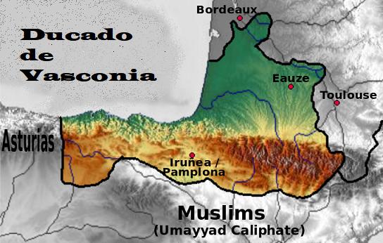 ducado vasconia francos pamplona aquitania vascos