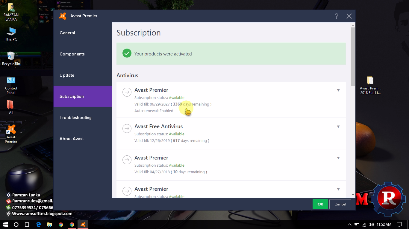 Overview of the functions and interface Avast 8 Premier