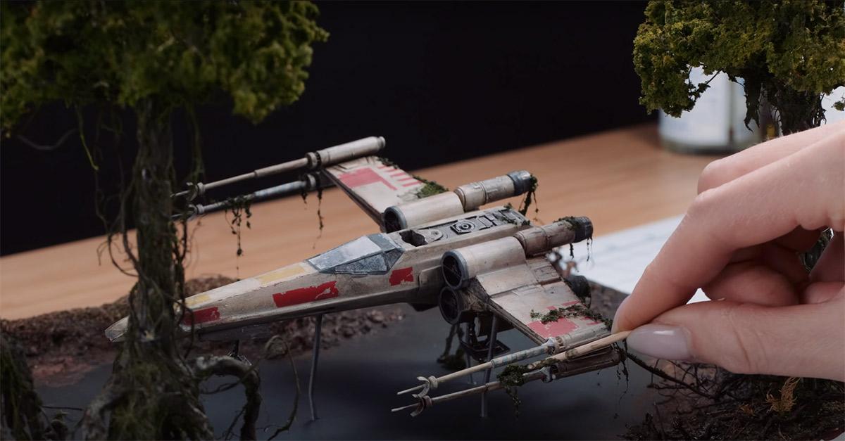 Youtuber compartilha processo de criação de diorama ultra realista de Star Wars