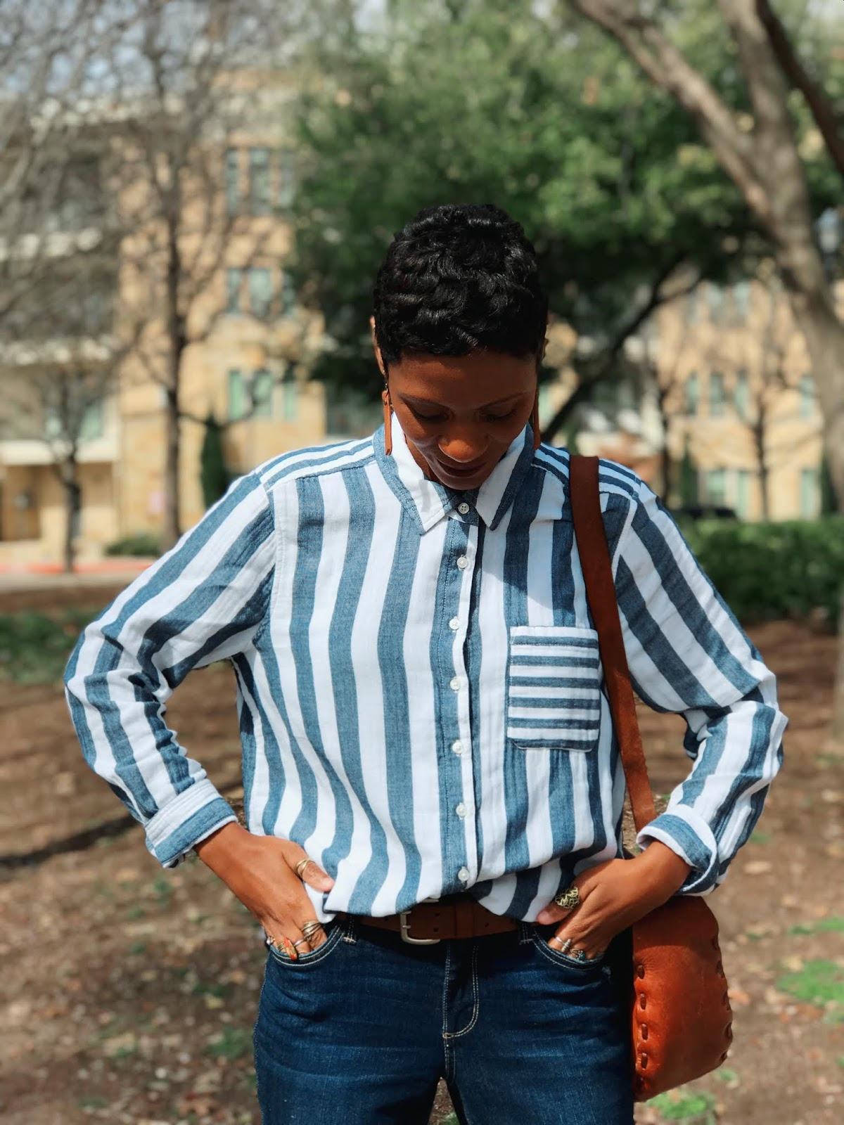 My NEW Thrifted Striped Shirt + How I RESTYLED It!
